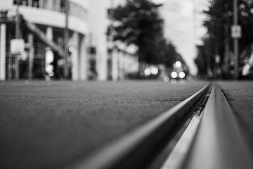 Straßenbahnschienen in Den Haag von Bart van Lier
