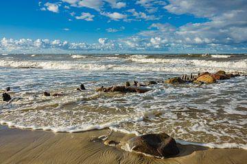Ostseeküste an einem stürmischen Tag von Rico Ködder
