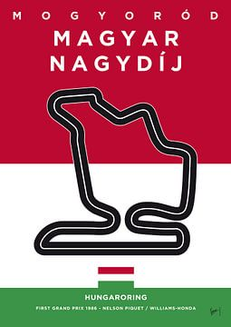My F1 HUNGARORING Race Track Minimal Poster van Chungkong Art