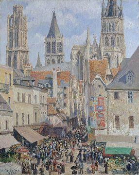 Rue de l'Épicerie, Rouen (Effect of Sunlight), Camille Pissarro van Meesterlijcke Meesters