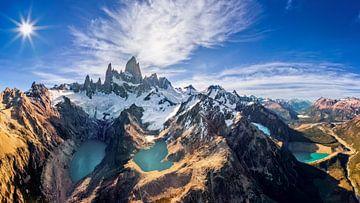 Fitz Roy, Patagonië van Dieter Meyrl