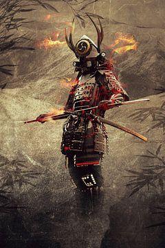 Un vieux samouraï japonais sur Bert Hooijer