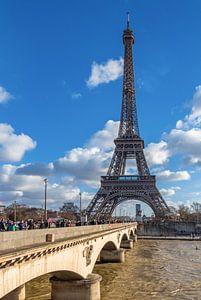 Blick zum Eiffelturm von Paris