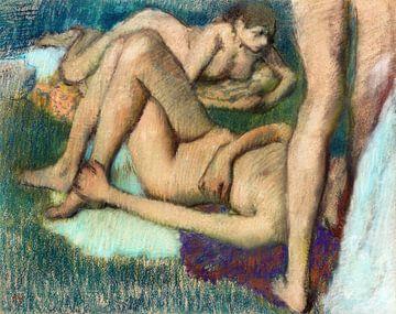 Nackte Frauen. Badende, Edgar Degas (ca. 1895-1900) von Atelier Liesjes