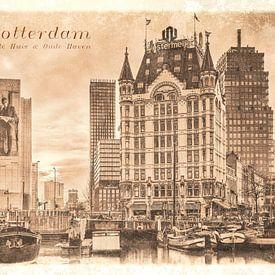 Carte postale d'époque: Maison Blanche et Vieux Port sur Frans Blok