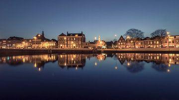 Haarlem: spiegelglad Spaarne. sur Olaf Kramer