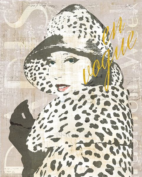 Fashion Week Paris II Screenprint, Sue Schlabach sur Wild Apple