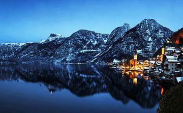 Hallstatt avec panorama alpin