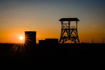 Sonnenuntergang am Schachtbock von Lies Callemeyn