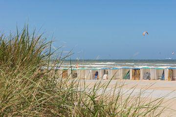 Strandhuisjes vanuit de Duinen