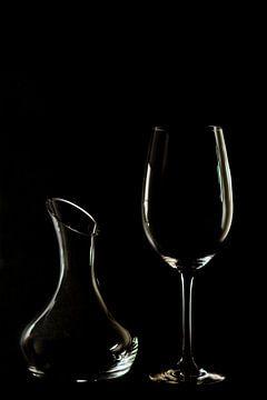 Glas en karaf van Gerhard Albicker