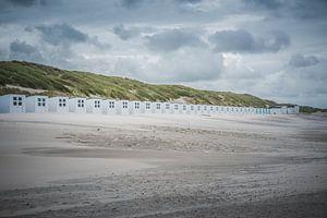 Strandhuisjes op strand Texel van LYSVIK PHOTOS