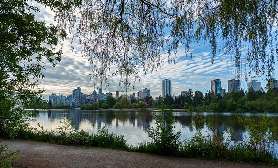 Panorama van Vancouver stad Canada