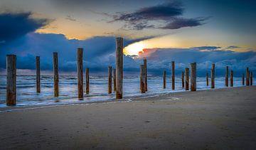 Beach sunset van Mario Calma
