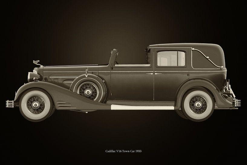 Cadillac V16 Town car 1933 van Jan Keteleer