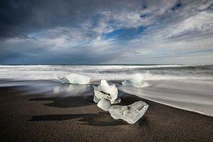 IJsschotsen op Diamond Beach - IJsland van