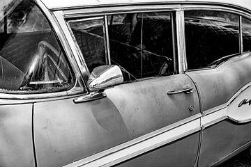 Cubaanse Pontiac Chieftain (zwart wit)