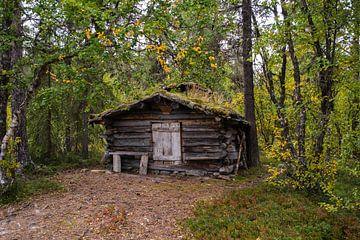 Alte Hütte entlang des Friisveien in Norwegen von Joke Beers-Blom