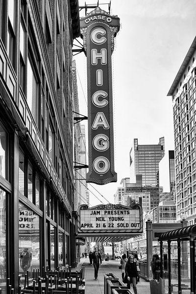 Chicago Theater Sign van VanEis Fotografie
