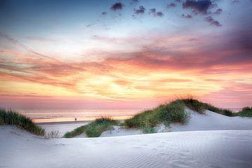 Zonsondergang op het strand van Fotografie Egmond