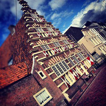 Nederland, Galgenwater, Leiden: Stadstimmerwerf von Djai van Nieuwenhoven