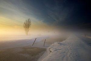 Snowy Farmland van