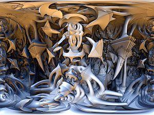 fantasie met fractals van W J Kok