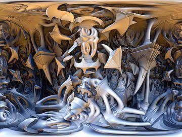 Fantasie mit Fraktalen von W J Kok