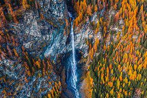 Waterfall austria van Thomas Bartelds