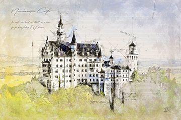 Schloss Neuschwanstein, Deutschland von Theodor Decker