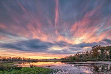 Ein flammender Sonnenuntergang von Herman de Raaf