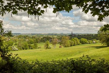 Panorama van dorpje Vijlen in Zuid-Limburg van John Kreukniet