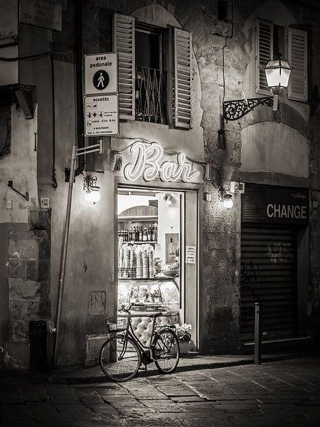 Florence - Oude Stad bij nacht van Alexander Voss