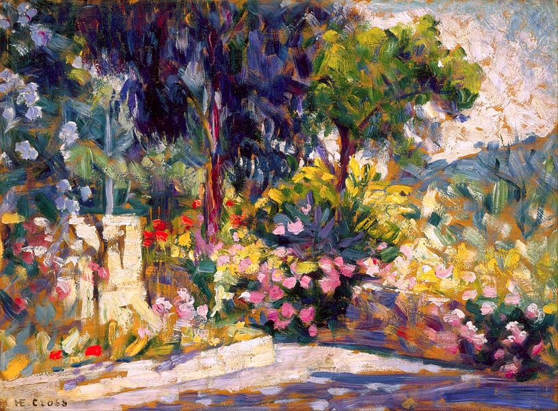 The Flowered Terrace, Henri Edmond Cross sur Diverse Meesters