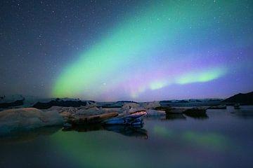 Polarlichter über Eis von Bastis photos