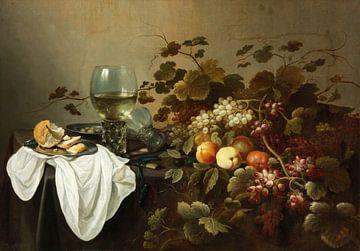 Stillleben mit Früchten und Römer-Glas, Pieter Claesz