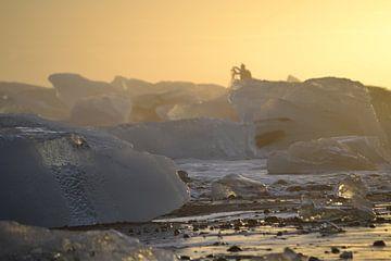 Icebeach Photographer Sunset van Art Kleisen