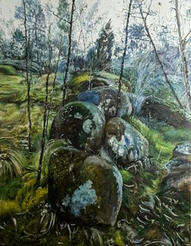 Paysage de mousses de terre et de nature sur KB Prints