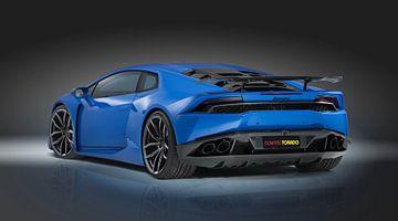 Lamborghini Huracan Light Blue sur Natasja Tollenaar
