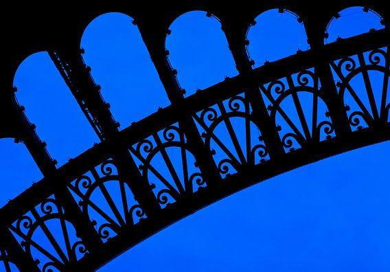 Close-up Eiffeltoren Parijs.
