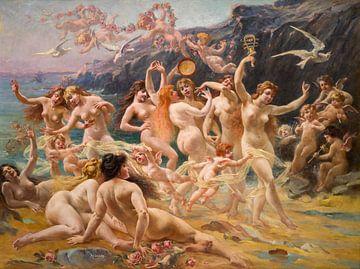 De dans der sirenes, Adolphe Lalyre (1848 1933, Frankrijk) van Atelier Liesjes
