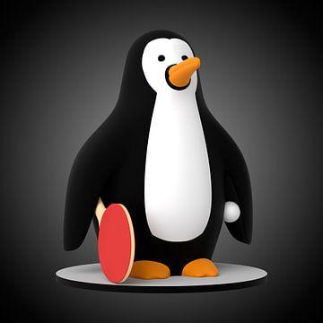 Pingpong Pinguin von Jörg Hausmann