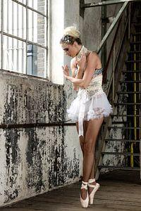 Ballerina dromend van een carrière in de dans ...