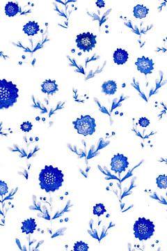 Blauwe bloemen van Ms Sanderz