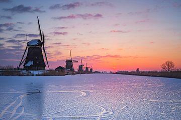 Winter in Kinderdijk van Richard Nell