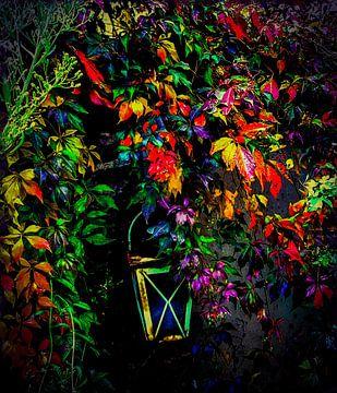 Verborgen onder de bladeren van de wijnstok van Kiki De Kock