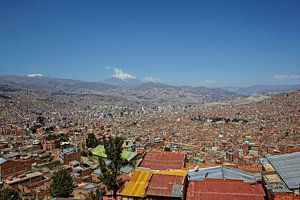 Panorama stadsgezicht van La Paz, Bolivia, Zuid-Amerika,