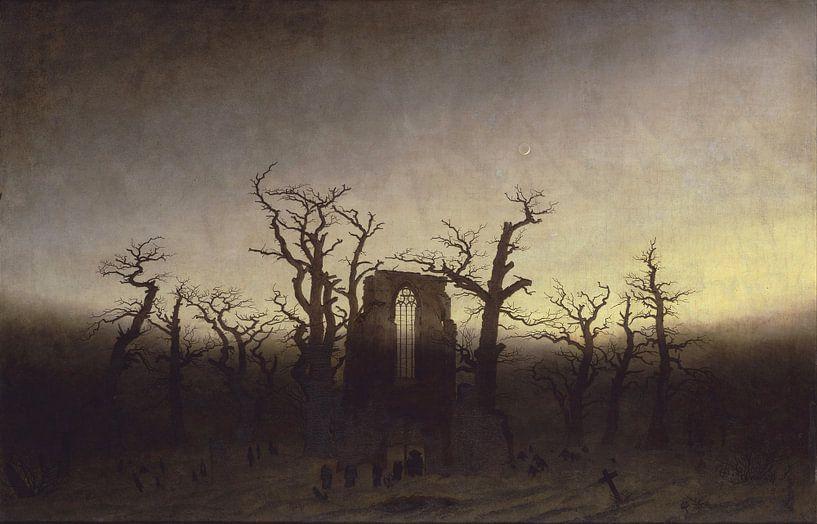 Caspar David Friedrich - Abdij in het Eichwald van 1000 Schilderijen