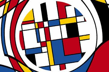 Piet Mondrian Art abstrakt van Marion Tenbergen