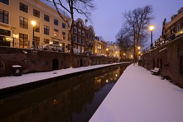 Nieuwegracht in Utrecht tussen Paulusbrug en Pausdambrug von Donker Utrecht